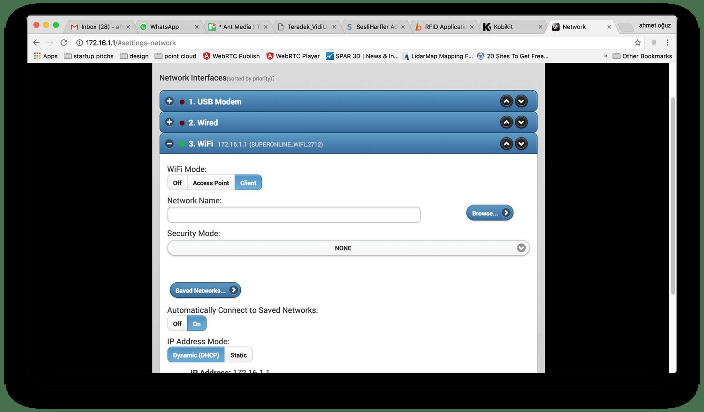Configure WiFi of Teradek Vidiu